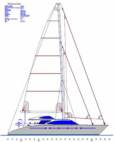 Bloomfield 75' Sail Catamaran