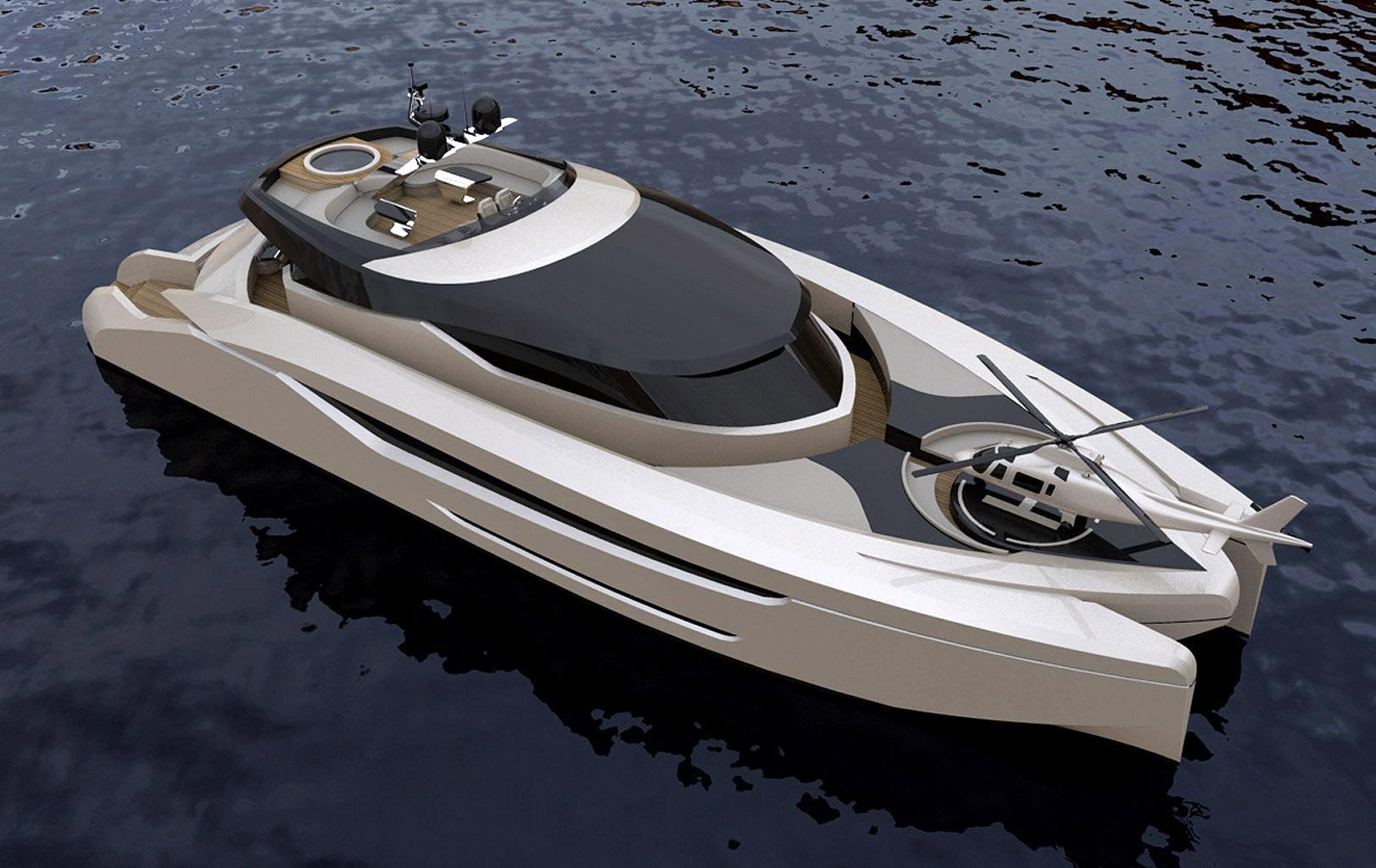 Power catamaran designs - Designindustria 130 Power Catamaran