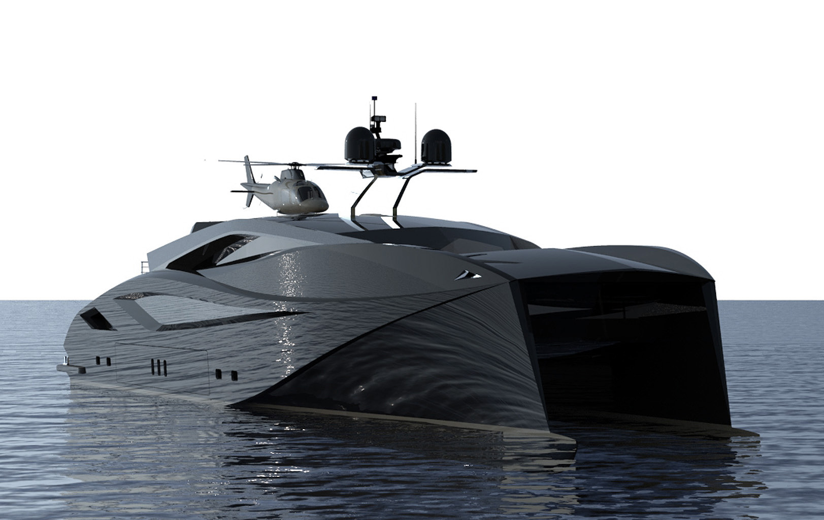 Power catamaran designs - Designindustria 120 Power Catamaran