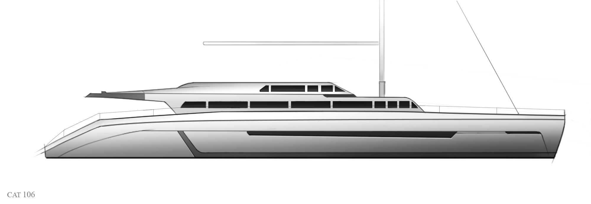 Pedigree Catamaran 106' Motorsailer
